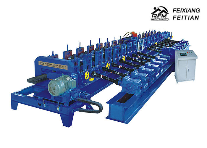 C Purlin Metal Stud Roll Forming Machine , Steel Frame Roll Forming Machine
