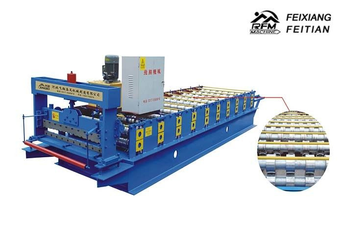 910 Color Steel Roll Forming Machine 8 - 12m / min With Continuous Automatically Production